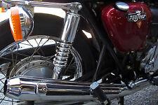 TEC Rear Chrome Shock Absorbers - Honda CB750 K0-7 F1/2 SOHC 2a*m23