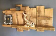 Floating Shelf display wall storage unit shelves wood timber Rustic  light oak