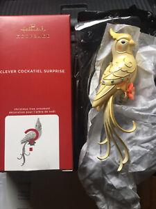 Beauty Of Birds Hallmark Clever Cockatiel 2020  ALL GOLD Version RARE!!