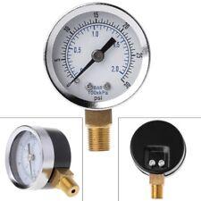 "1/8"" NPT Pressure Gauge Air Compressor Hydraulic Pressure 0-30 PSI Bottom Mount"