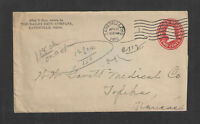 1912 THE BAILEY DRUG CO ZANESVILLE OHIO ADVERTISING COVER US STAMPED ENVELOPE