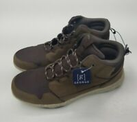 Mens Hightop Shoes Brand New George Memory Foam Flexible Outsole Brown Speckled