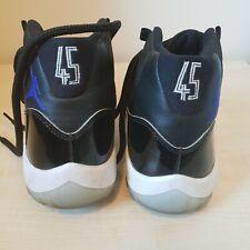 Nike Air Jordan 45 Baloncesto entrenador de patente negro botas talla 8
