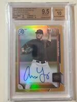 2015 Bowman Chrome Gold Refractor Alex Young RC #ed 50 (BGS 9.5 Gem Mint AUTO 10