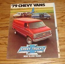 Original 1979 Chevrolet Truck Chevy Vans Sales Brochure 79 Sportvan