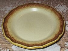 "MIKASA Whole Wheat Bread Salad Dessert Plate 8"" Diam Brown E 8000 Japan MINT"