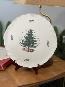 """Nikko Happy Holidays Party Plate Platter Serving Tray 12 1/4"""" with Box"""
