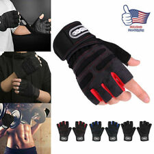 Men Weightlifting Gym Training Sports Fitness Wrist Wrap Workout Exercise Gloves