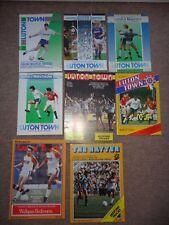 LUTON TOWN vs MAN Utd MANCHESTER UTD 1980's football programme JOB LOT