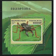 Togo SC1712 Souv.Sht. Beetles -Psaildognatus atys MNH 1996