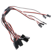 5Pcs 30cm Y Style Servo RC Extension Lead Wire Cord Cable For JR Futaba od