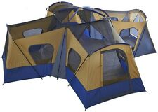 Family Camping Tent 10 - 14 Person 1 - 4 Room Cabin Easy Setup 20' X 20' Blue