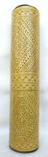 Large Finely Carved Bamboo Lime Container Timor Tribal Artifact - Betel Nut