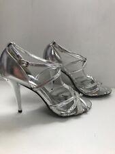 Señoras Poze Talla 6 tacos con tiras boda ocasión astilla Sandalia Fiesta Zapato Elegante