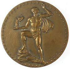 France nude SPORTS AWARD by Bettanier bronze 50mm