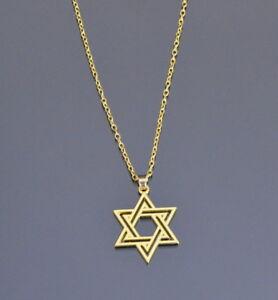 Stella di David Essagramma Collana con Ciondolo Metallo Jüdisches Stern