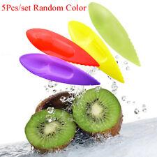 5X Kunststoff Obst Kiwi Gadget Küche Utensil Schäler Cutter Löffel Slicer To BOD