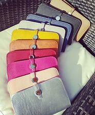 Black large ladies wallet purse.  Dogon style wallet purse.