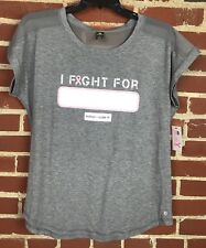 Xersion 'I Fight For' Personalize It! Breast Cancer Shirt Size Large