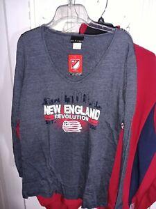New England Revolution Long Sleeve T-shirt  Major League Soccer MLS - Women's S