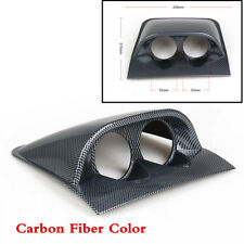 "Car Carbon Fiber Color 2"" 52mm Universal Dual Hole Dash Gauge Pod Mount Holder"