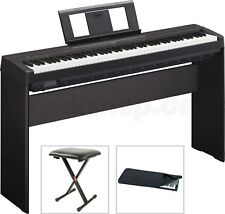 Yamaha P 45 B Digital E-Piano mit L 85 Holzgestell + Sitz Bank Staubschutz Hülle