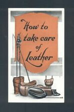 SCARCE VACUUM Co How to Take Care of Leather original c.1925  pub. Melbourne