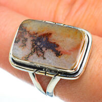Scenic Dendritic Agate 925 Sterling Silver Ring Size 8.25 Ana Co Jewelry R46871F