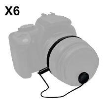 6PCS Lens Cap Leash Holder Keeper Canon Nikon Sony Pentax Fuji DSLR Camera