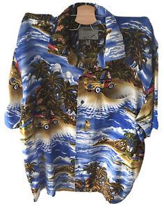 Cardinal Vintage Button Up Short Sleeve Shirt Mens XL Hawaiian