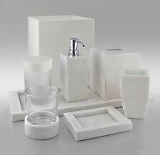 Gail Deloach Lotion/Soap Pump Dispenser, White Stone