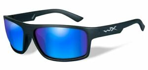 Wiley X Peak Polarized Men's Sunglasses w/ Blue Mirror Lens - ACPEA09
