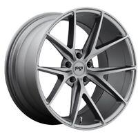 19x8.5 M116 Niche Misano Matte Gunmetal Wheels 5x112 (42mm) Set of 4