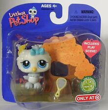 Littlest Pet Shop Target exclusive retired #404 gray owl with blue eyes unopened