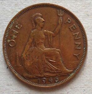 Great Britain 1946 1 Penny coin
