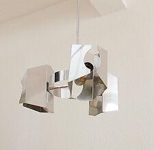 lustre suspension metal chromé alu design 70 style max sauce ceiling lamp 1970