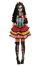 Rubie's Official Ladies Day of The Dead Senorita Skeleton Halloween Adult Costume - Small