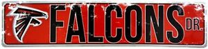 "ATLANTA FALCONS STREET METAL 24 X 5.5"" SIGN DRIVE NFL DR ROAD AVE DISTRESSED"