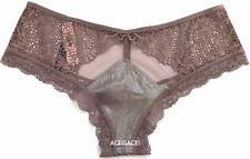 NWT*Victoria's Secret Very Sexy Lace-trim Cheeky Panty-COCOA SHINE FOIL/ E6K-M/M
