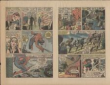 AMAZING SPIDERMAN #56 1ST APP GWEN STACY DAD ORIGINAL PROOF PAGE 1968 ROMITA ART