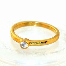 24K Gold Diamond Ring 0.1ct by estherleejewel