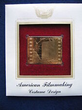 2003 American Filmmaking Costume Design Replica FDC 22kt Gold Golden Cover Stamp