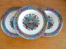 "Copeland Spode Primrose  Starflower Multicolor 3 Rimmed Soup Bowls    8 1/4"""