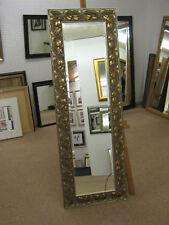 """NEW ORNATE  GOLD BEVEL GLASS FULL LENGTH DRESSING MIRROR 18"""" X 54"""""""