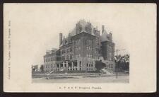 Postcard TOPEKA,Kansas/KS   A.T. & S.F. RAILROAD HOSPITAL view 1906?