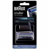 BRAUN 20S / 2000 Series CruZer 1, 2, 3, 4 Shaver Foil & Cutter Set Replacement
