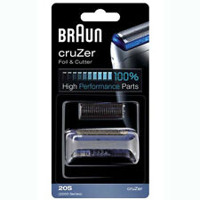 BRAUN 20S / 2000 Series CruZer 1, 2, 3, 4 Shaver Foil & Cutter Set Replacement
