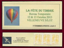 Fête timbre 2013 FRANCE Carnet  N°4763 x 5 Villeneuve Ballon** Marianne Ciappa