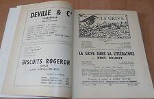 ARDENNES CAHIERS DE LA GRIVE N° 100 LA GRIVE DANS LA LITTÉRATURE 1958