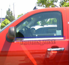For 07-12 Chevy Silverado 2Front Doors Reg EXT Cab Stainless  Window Sill Trim